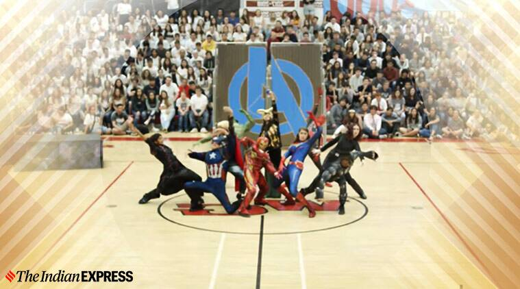 "avengers, ""Marvel"" Homecoming Assembly Dance, viral avengers dance, US high school avengers dance viral video"