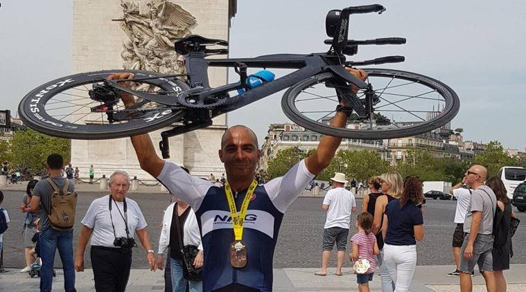 Enduroman triathlon, enduroman, indianexpress.com, indianexpress, mayank vaid, who is mayank vaid, what is enduroman, ironman, milind soman ironman, fitness challenges, biking challenges, running challenges, swimming challenges, diet for enduroman, training for enduroman,