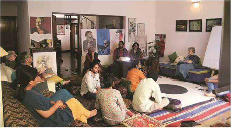 oetry, mehfil, poetry session, hindi diwas, indian express, indian express news