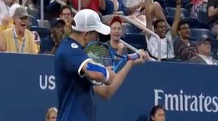 Us open mike bryan fined 10000 for gun gesture at official