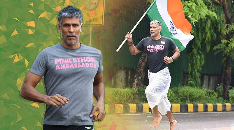 milind soman, milind soman fitness, milind soman pinkathon, milind soman indian express