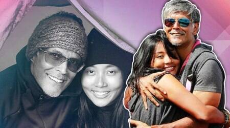 milind soman, ankita konwar, marriage, love, age gap, indian express, indian express news