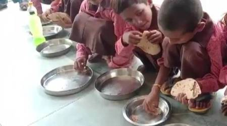 mid-day meal, substandard mid-day meal, UP police, mid-day meal reporter, indian express