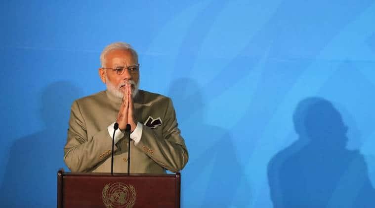 PM Modi in US, PM Modi on climate, PM Modi Climate Action Summit, PM Modi United Nations, UN Climate Action Summit, Climate Action Summit UN, PM Modi UN speech, PM Modi speech on climate, climate change, climate strike, India News, Indian Express