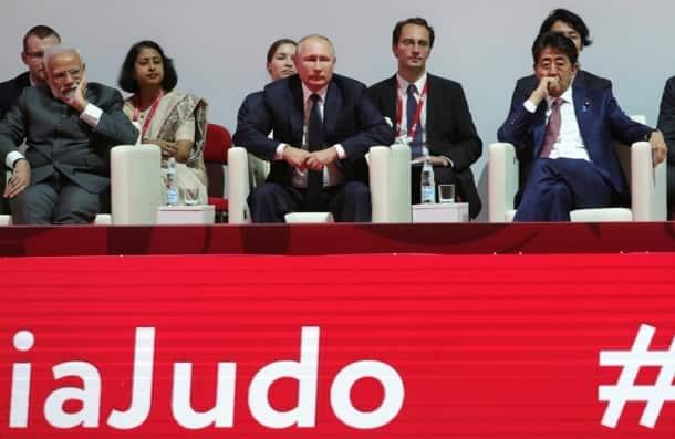 Vladimir Putin takes Narendra Modi, other leaders to judo tournament