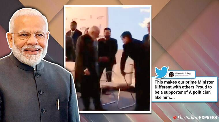 Narendra Modi, PM Modi, Modi declines sofa for chair in Russia, Modi in Russia,Eastern Economic Forum, Vladimir Putin, 20th India-Russia annual summit, Trending, Indian Express
