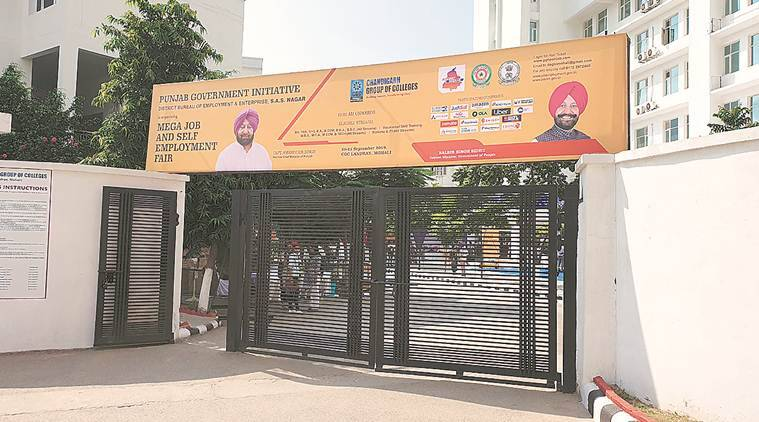 Job fair starts in Mohali colleges