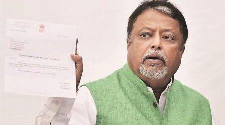 Kolkata city news, Kolkata news, Mukul Roy BJP, BJP Mukul Roy, Partha Chatterjee TMC, Saradha scam, indian express news