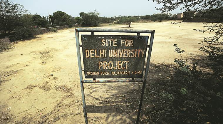 Allotted 30 yrs ago, land for DU campus in Najafgarh houses just a boundary wall