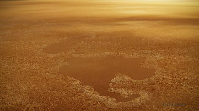 titan, saturn titan, saturn titan moon, titan moon lakes, titan lakes liquid, what do titan moon lakes contain, nitrogen explosion, explosion due to heating of nitrogen