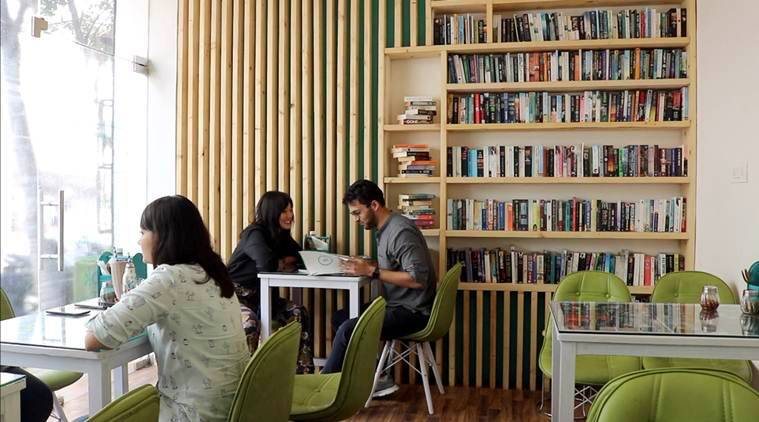 the nerdy indian cafe, book cafe delhi ncr
