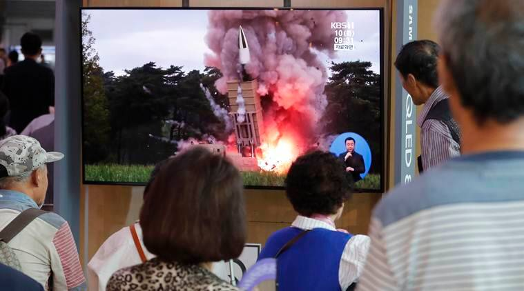 North Korea fires two projectiles after offering talks with US