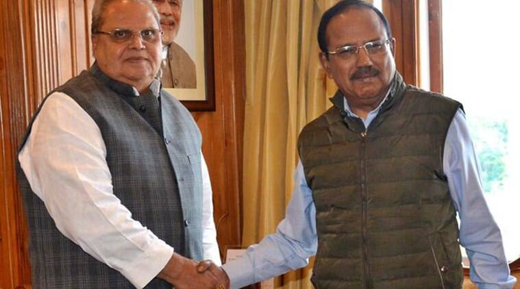 article 370, jammu kashmir curbs, easing of curbs in J&K, acrticle 370 abrogation, kashmir doval, nsa ajit doval, india pakistan relations, indian express, jk governor, satyapal malik