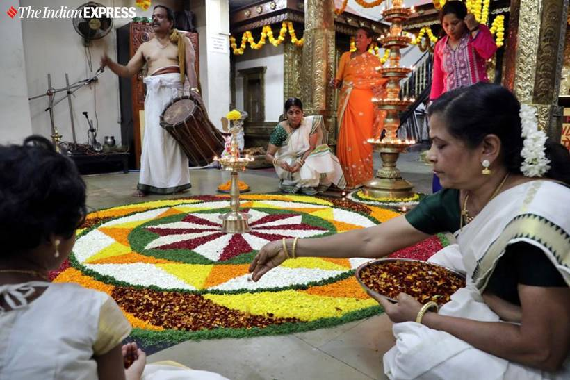 onam, onam festival, onam 2019, kerala, onam rituals, onam pookalam, onam plays, onam dance, onam games, Onakalikal, onam food, kerala festival, onam photos, onam celebration photos, onam images, indian express