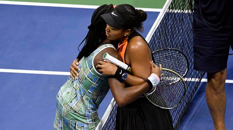 Love all: At the US Open, players hug it out after matches
