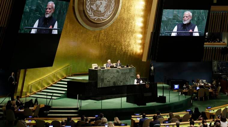 Need united global front against terror, PM modi tells UN General Assembly