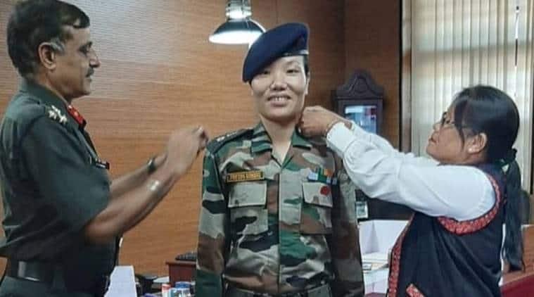 Ponung Doming, indian army, lt colonel, arunachal pradesh, arunachal army officer, women in indian army, indian express
