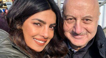 anupam kher attends jonas brother concert with Priyanka Chopra