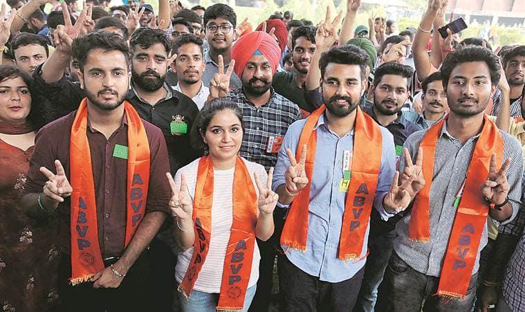 panjab university elections, panjab university polls, PU elections, PU polls, panjab university ABVP, panjab university NSUI, education news, Indian Express