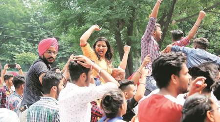 panjab university elections, panjab university polls, PU elections, PU polls, panjab university ABVP, panjab university NSUI, education news, Indian Express
