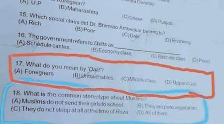 Tamil Nadu politicians raise a furore on Class VI question paper