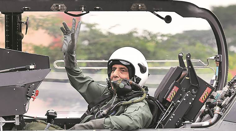 rajnath singh tejas fighter jet, defence minister rajnath singh, light combat aircraft (LCA) Tejas