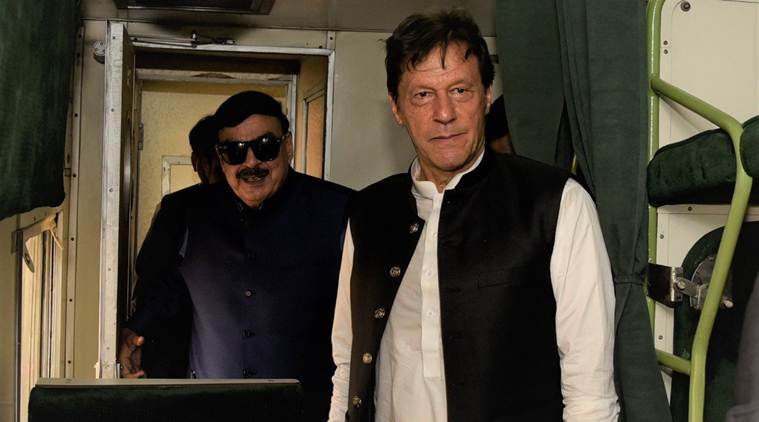 Imran Khan, Pakistan Prime Minister, Sheikh Rasheed Khan, Sheikh Rasheed Khan comments, Kashmir issue, Jammu and Kashmir issue, Article 35 A, Article 370, Article 370 scrapped, India news, Indian Express
