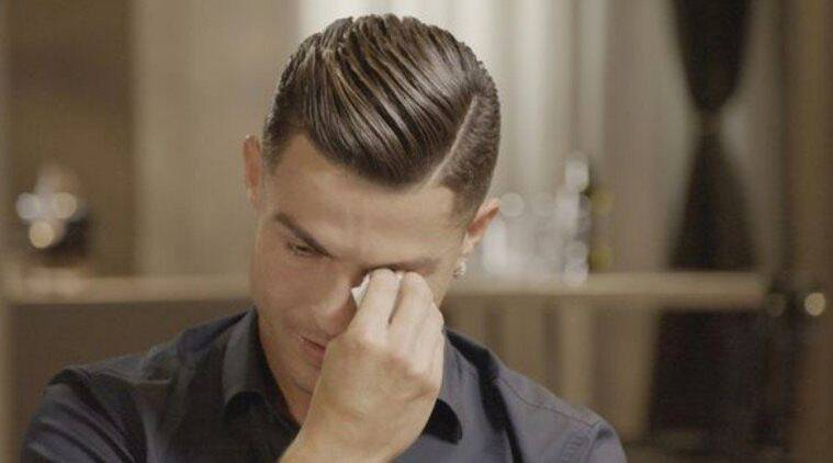 Cristiano ronaldo crying breaks down in tears during emotional interview piers morgan