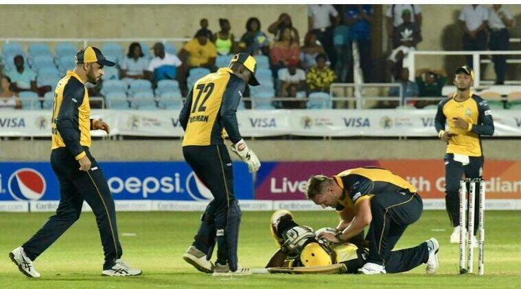 Windies` Andre Russell cleared of serious injury after head blow