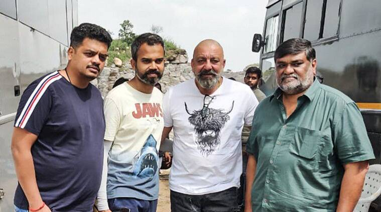 Sanjay Dutt on the sets of KGF 2