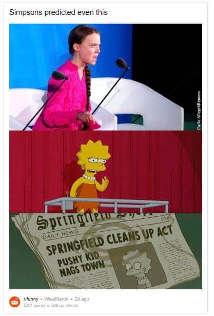 Did The Simpsons Also Predict Greta Thunberg S Evocative Speech