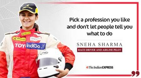 sneha sharma, indianexpress.com, indianexpress, yourswisely video, life positive, good morning messages, racing driver sneha sharma, pilot sneha sharma,