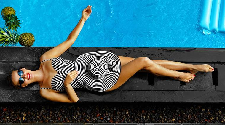 swimming, swimming effects, skin care, hair care, indian express, indian express news