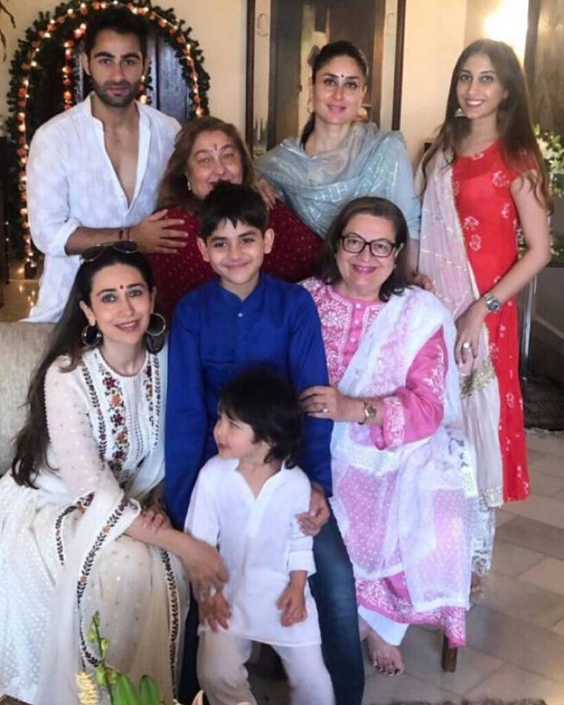 Kapoor's Ganesh Utsav: Taimur, Yash And Roohi's traditional outfits are stealing all the thunder
