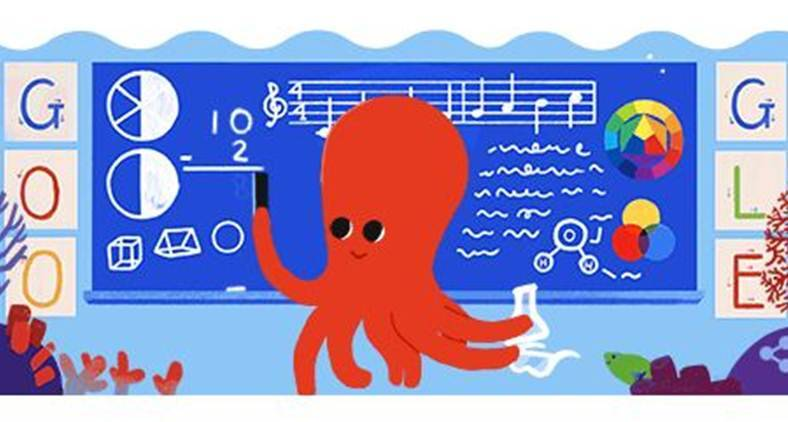 Google doodle pays tribute to educators on Teacher's Day