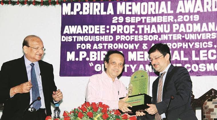 Image result for Scientist Thanu Padmanabhan gets M P Birla Memorial Award