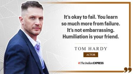Tom Hardy, life positive, inspiting quotes, tom hardy birthday, happy birthday tom hardy, inception hero tom hardy, who is tom hardy, tom hardy inspiring quotes, indianexpress.com, indianexpress, good morning messages, The Dark Knight Rises Tom Hardy, Inception, Mad Max Fury Road, The Revenant,