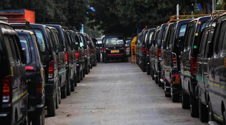 Delhi NCR transport strike, transport strike, transport strike Delhi NCR, autos strike Delhi NCR, cabs strike Delhi NCR, Delhi NCR strike, India news, Indian Express