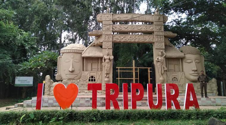 Tripura selfie points, Agartala selfie points, Ujjyanta palace Agartala, Tripura tourism, Biplab Kumar Deb, indian express news