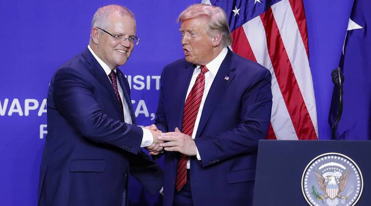 Donald trump, Scott Morrison, australia prime minister, china, china developing economy, trump on china, indian express