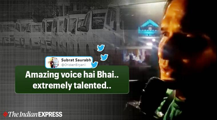Lucknow uber driver singing, Lucknow uber driver viral video, lucknow driver Nazar ke Saamne viral video, Aashiqui songs, Aashiqui movie, twitter reactions, indian express, indian express news