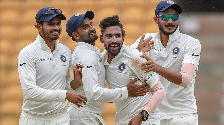 India a vs south africa a 2nd test day 2 live cricket score online