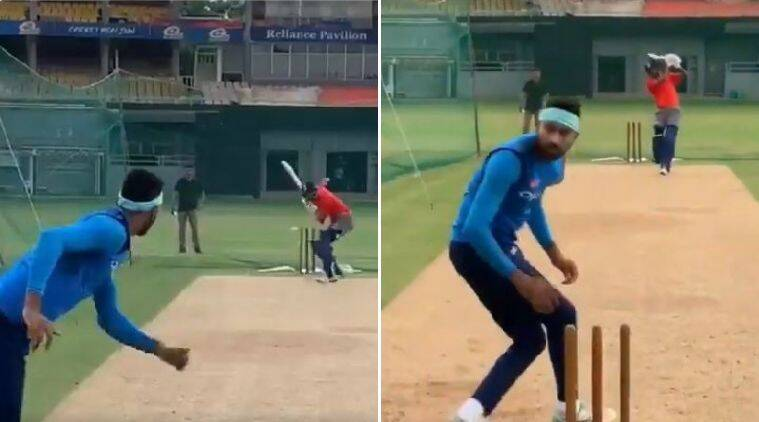 Watch: Hardik Pandya apologises for almost knocking Krunal's head off in practice session