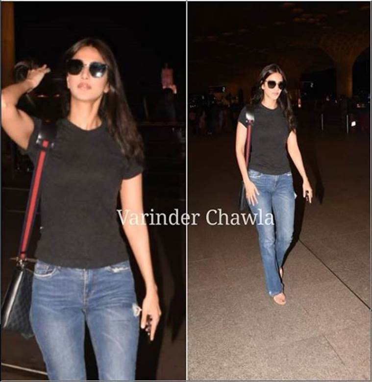 vaani kapoor, airport look, indian express, indian express news