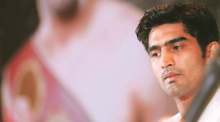Vijender singh, boxing, boxer vijender singh, olympics, olympic bronze medalist, professional boxer, sports news, indian express