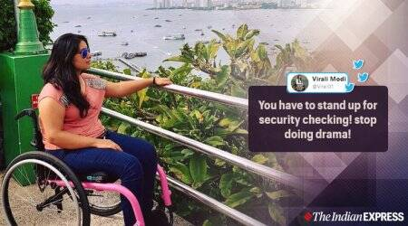 Woman wheelchair asked to stand up Delhi airport, CISF, CISF wheelchair bound woman to stand, delhi airport, disabled woman, twitter reactions