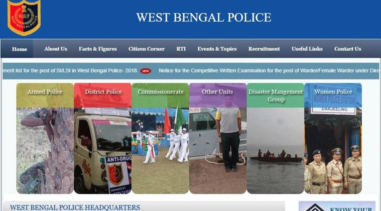 West Bengal Police Warder recruitment exams 2019, WBP Warder recruitment exams 2019, West Bengal Police Warder recruitment exam admit card
