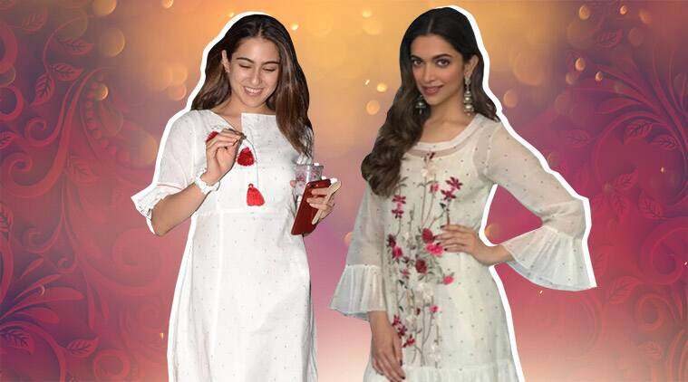 Navaratri 2019 colours, navaratri durga puja, bollywood white ethnic looks