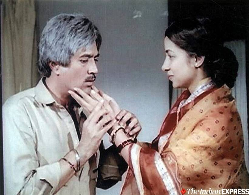 Shabana Azm with rajesh khanna in avatar