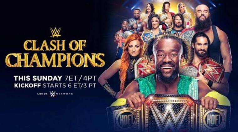 Clash of champions 2019 live streaming matches tv channel time in ist india time